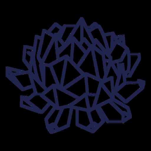 Flor de trazo de flor de origami