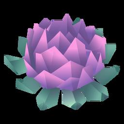 Ilustración de flor de origami púrpura