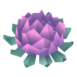 Origami flower purple illustration