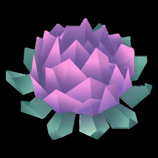 Origami flower purple illustration