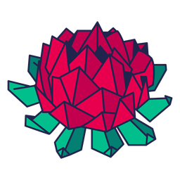 Origami Blume rot