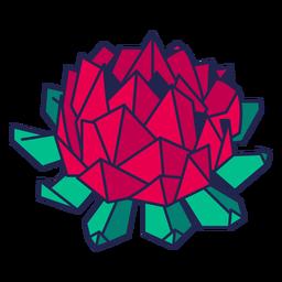 Origami flor roja