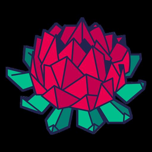 Origami flor roja Transparent PNG