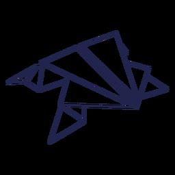Sapo de origami com traços de sapo