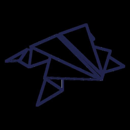 Origami frog stroke frog