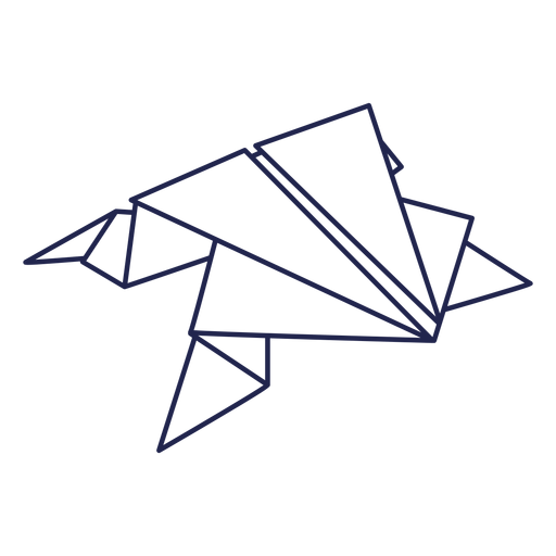 Rana de trazo de rana de origami Transparent PNG