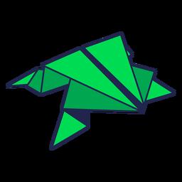 Rana de origami verde