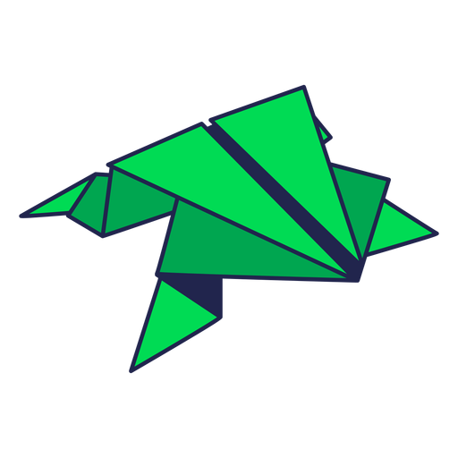 Origami frog green