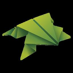 Ilustración de origami rana verde