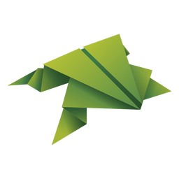 Origami frog green illustration