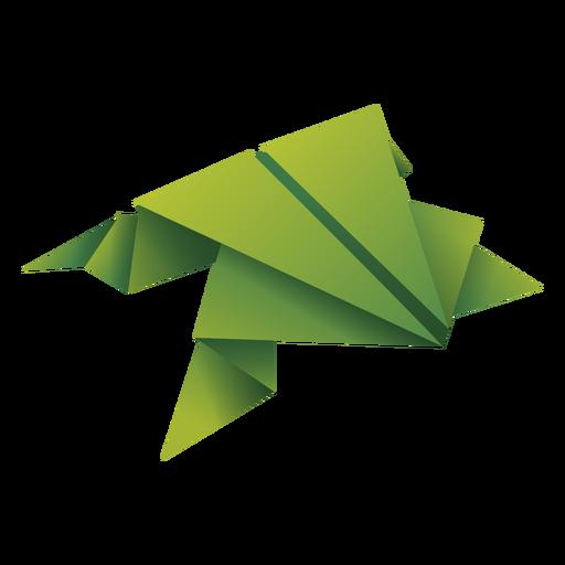 Ilustração de origami sapo verde