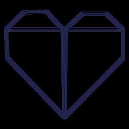 Origami heart stroke heart