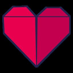 Corazón de origami rojo