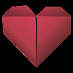 Ilustração de origami coração vermelho