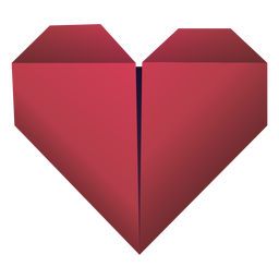 Origami heart red illustration