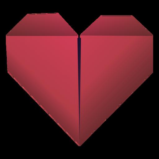 Ilustración de origami corazón rojo