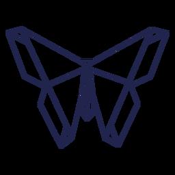 Origami moth stroke moth