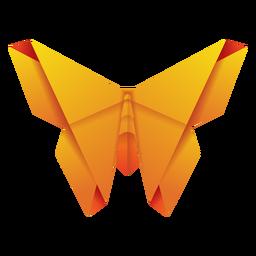 Ilustración de origami polilla amarilla