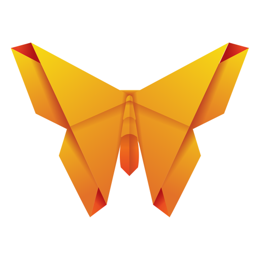 Origami moth yellow illustration Transparent PNG