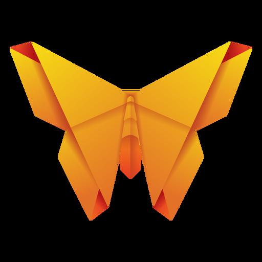 Origami moth yellow illustration