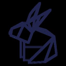 Origami coelho traçado de coelho