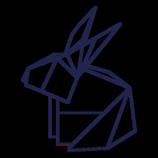 Origami rabbit stroke rabbit