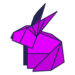Origami rabbit purple