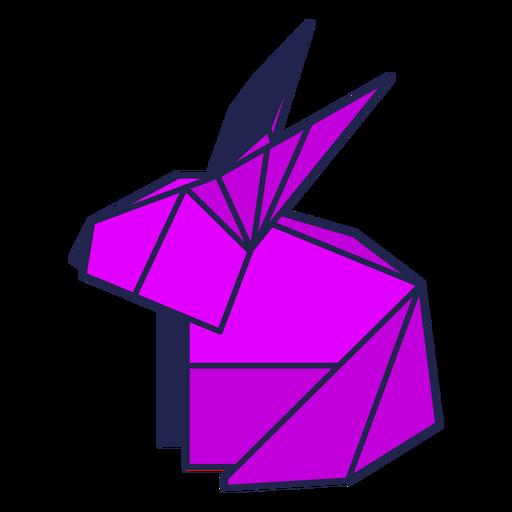 Origami rabbit purple