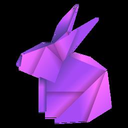 Ilustração de origami coelho roxo