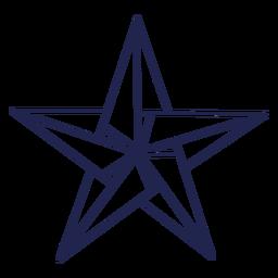 Origami star stroke star