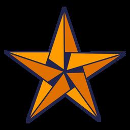 Estrela de origami amarela