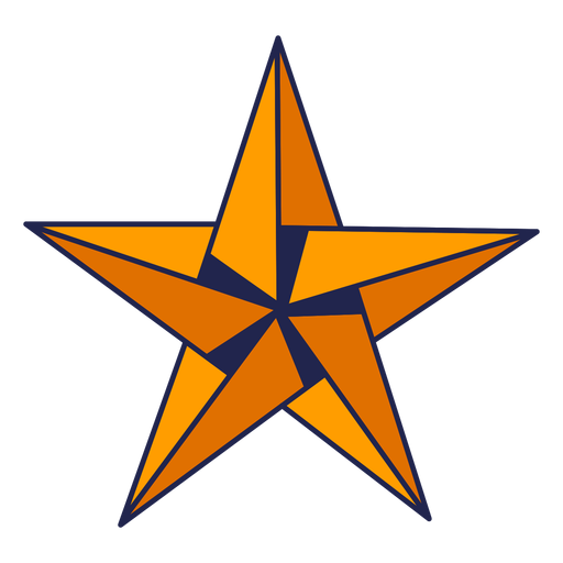 Origami star yellow Transparent PNG