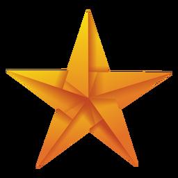 Ilustração de origami estrela amarela