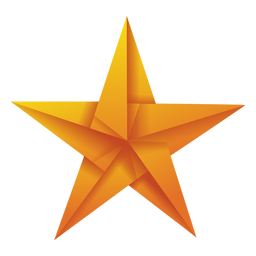 Origami star yellow illustration