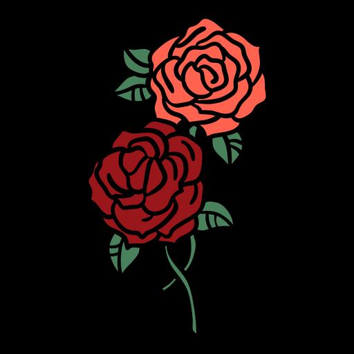 Manojo de rosas dibujadas a mano