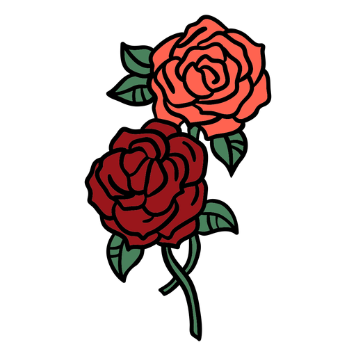 Roses bunch hand drawn Transparent PNG