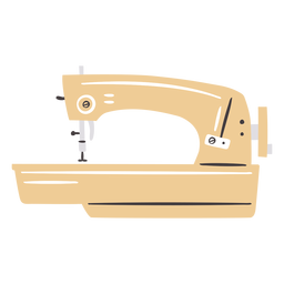 Máquina de coser moderna manual elegante plana