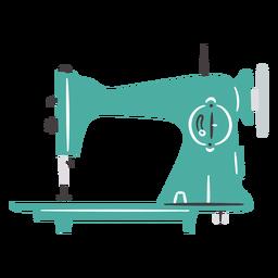 Máquina de coser vintage manual liso plano