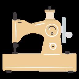 Máquina de coser vintage manual pequeña plana