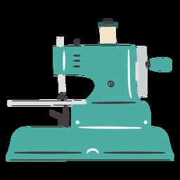 Máquina de coser vintage plana pequeña