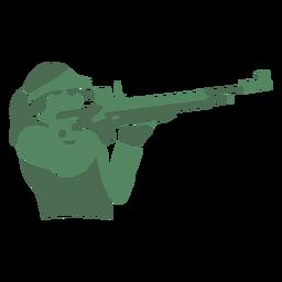 Rifle de tiro da senhora
