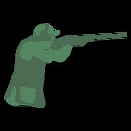 Hombre de tiro con escopeta derecha