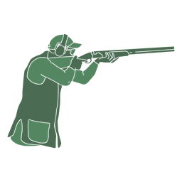 Schützenmann Schrotflinte rechts