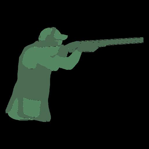 Shooting man shotgun right