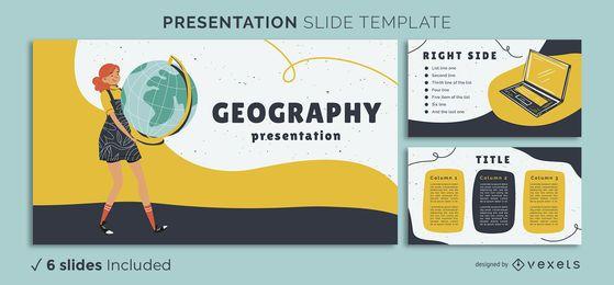 Plantilla de presentación de geografía