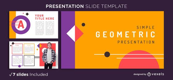 Modelo de apresentação geométrica brilhante
