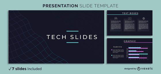 Plantilla de presentación de tecnología abstracta