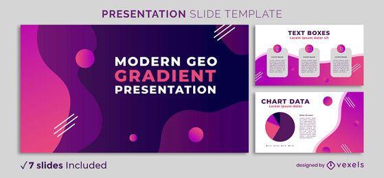 Plantilla de presentación de gradiente geo moderno