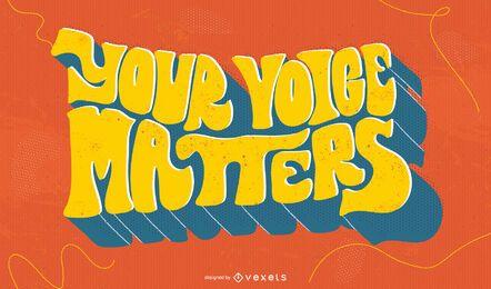 Sua voz importa letras brancas