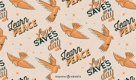 Diseño del patrón del día de la paz